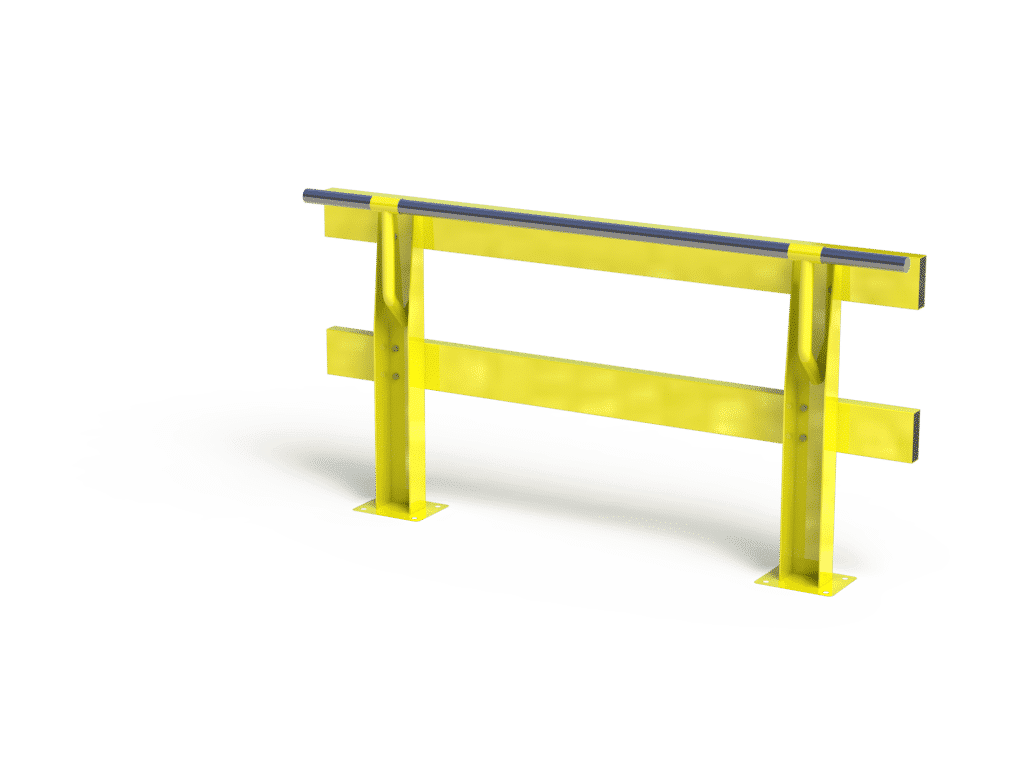 V-Rail Verge Safety Barrier with Handrail