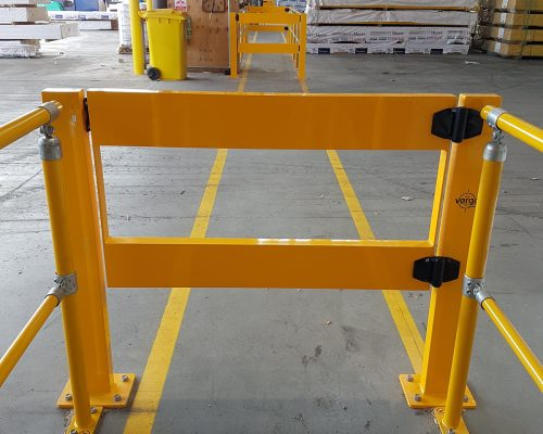 ECO handrail system. BV051 Verge swing gate. Walkway protection. forklift safety (2)