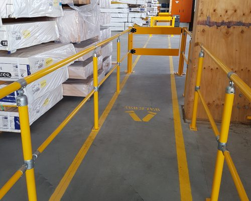 ECO handrail system. BV051 Verge swing gate. Walkway protection. forklift safety (3)