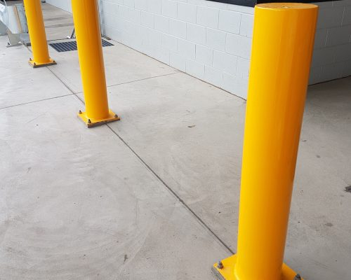 EV304 Verge bollard. Medline warehouse office (2)