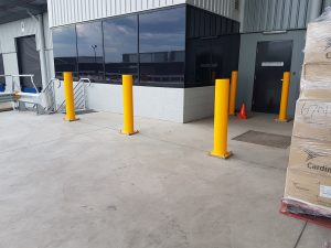EV304 Verge bollard. Medline warehouse office