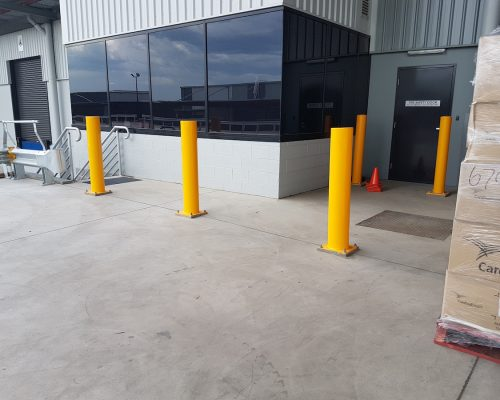 EV304 Verge bollard. Medline warehouse office