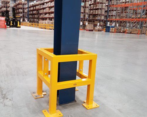 EV310 Verge safety barriers. Verge Column protection. asset and building protection. forklift safety MEDLINE. prevents damage