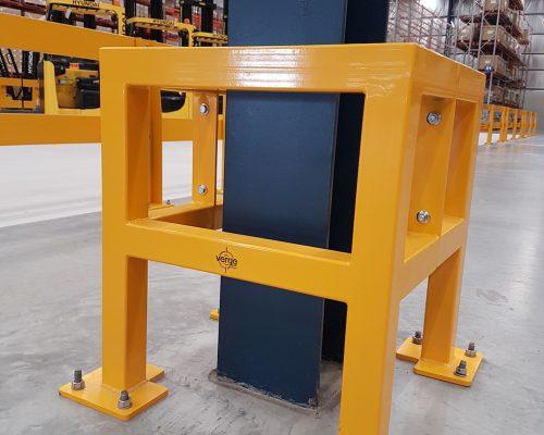 EV310 Verge safety barriers. Verge Column protection. asset protection. forklift safety MEDLINE