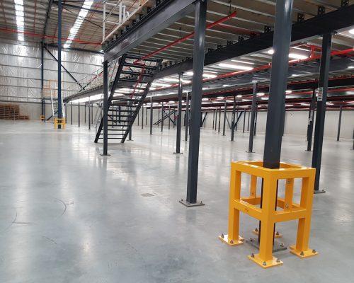 EV311 Verge safety barriers. Verge Column protection. asset and building protection. forklift safety MEDLINE. prevents damage (2)