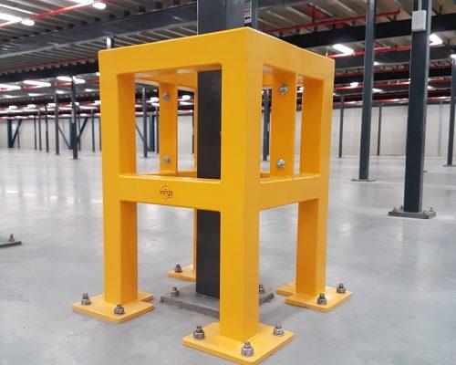 EV311 Verge safety barriers. Verge Column protection. asset and building protection. forklift safety MEDLINE. prevents damage