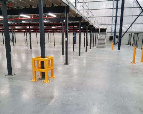 EV311 Verge safety barriers. Verge Column protectors and bollards (EV301). asset and building protection. forklift safety MEDLINE. prevents damage