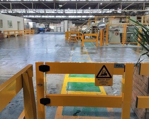 USG Boral - Verge Safety Barrier. Verge swing gate