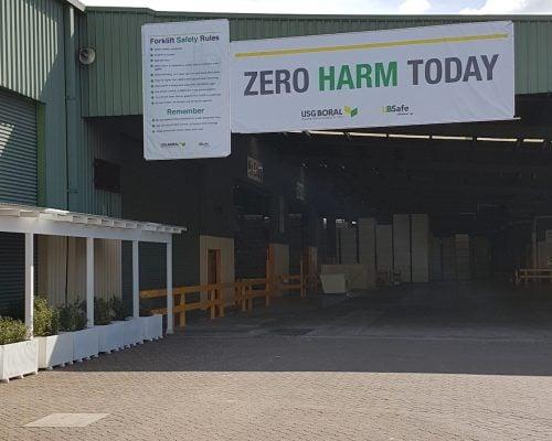 USG Boral - Verge Safety Barrier. ZERO HARM TODAY