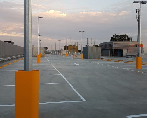 Verge light post guard. carpark safety (3)