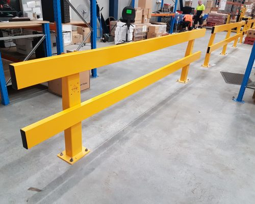 Verge safety barriers. Asset and people protection. forklift safety MEDLINE