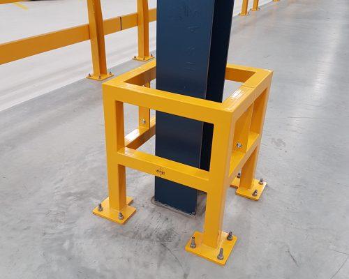 Verge safety barriers. Verge Column protection. asset protection. forklift safety MEDLINE