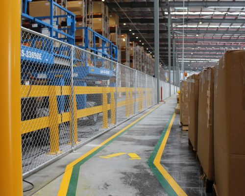 Verge warehouse barrier. Hyundai Mobis Eastern Creek - FDC Construction. FORKLIFT SAFETY. Work station protection (5)