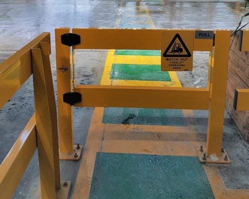 USG Boral Verge Safety Barrier. Verge swing gate