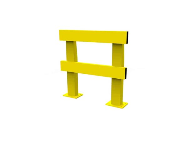 yellow safety barrier