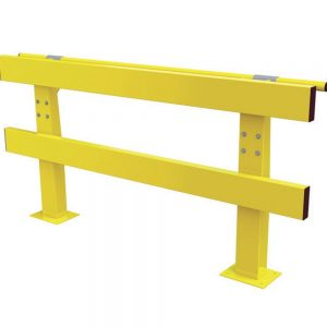 Verge Safety Barriers HD Series with Handrail front