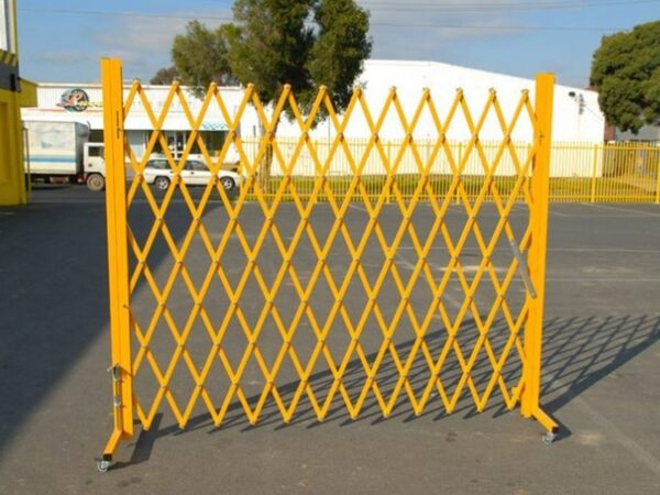 Warehouse safety barriers, forklift safety barriers, mezzanine pallet gates