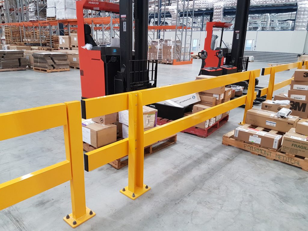 forklift safety warehouse barrier