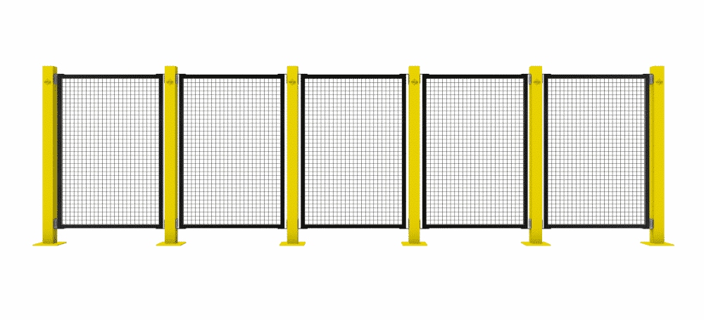 warehouse safety mesh fence