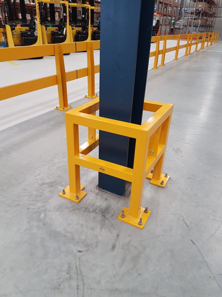 forklift safety column protection