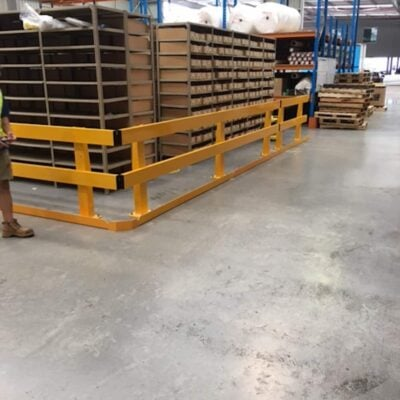 verge safety barriers warehouse