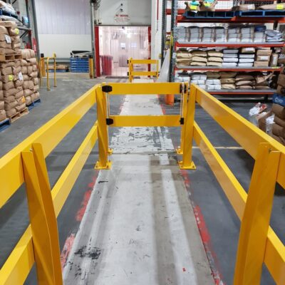 pedestrian forklift warehouse safety