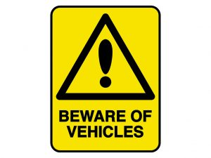 IV012 – VERGE HAZARD SIGN – BEWARE OF VEHICLES