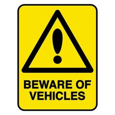 HV603 - VERGE HAZARD SIGN – BEWARE OF VEHICLES