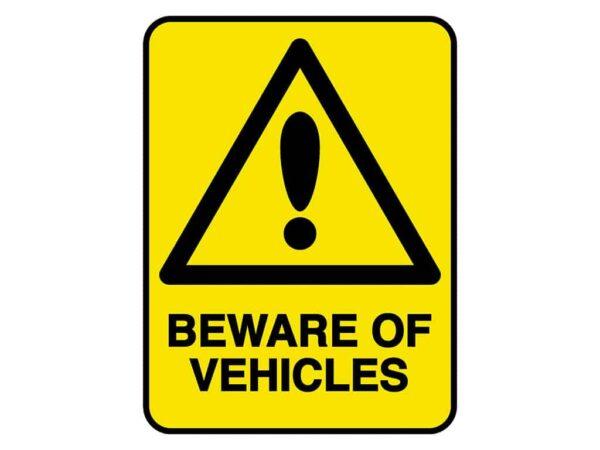 HV603 - VERGE HAZARD SIGN – BEWARE OF VEHICLES - hazard sign