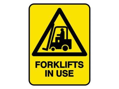HV601 – VERGE HAZARD SIGN – FORKLIFT IN USE