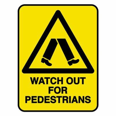 HV602 - VERGE HAZARD SIGN – WATCH OUT FOR PEDESTRIANS