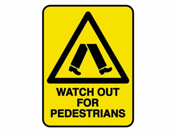 HV602 - VERGE HAZARD SIGN – WATCH OUT FOR PEDESTRIANS - hazard sign