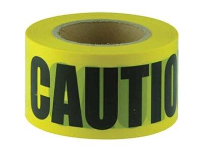 JV106 Verge CAUTION black on yellow tape