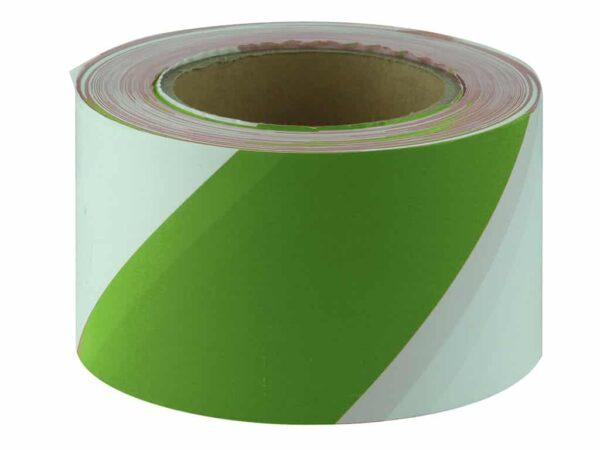 Verge Green and White Barricade Tape