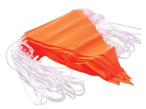 Verge Orange PVC Bunting Flagline