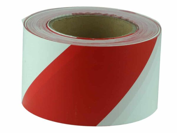 Verge Red and White Barricade Tape