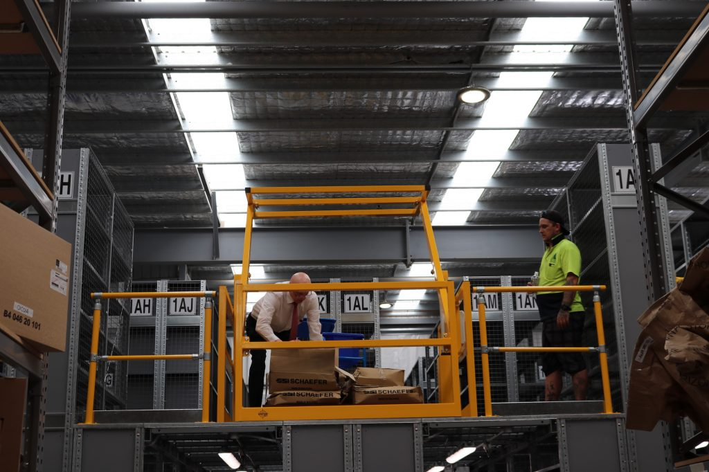 verge eletronic rollover gate for warehouse safety australia