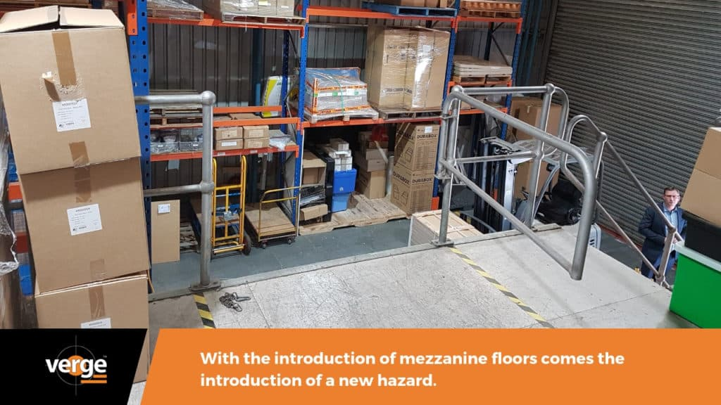 exposed mezzanine is a workplace hazard