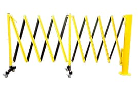 verge rotating expandable barrier