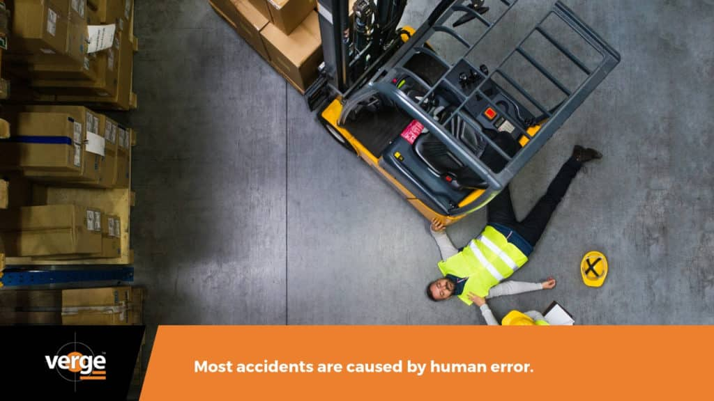 warehouse accidents are caused by human error