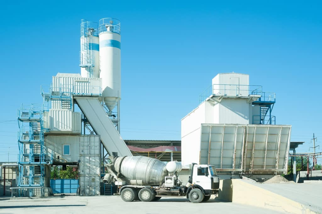 concrete batching plant needs verge safety barriers