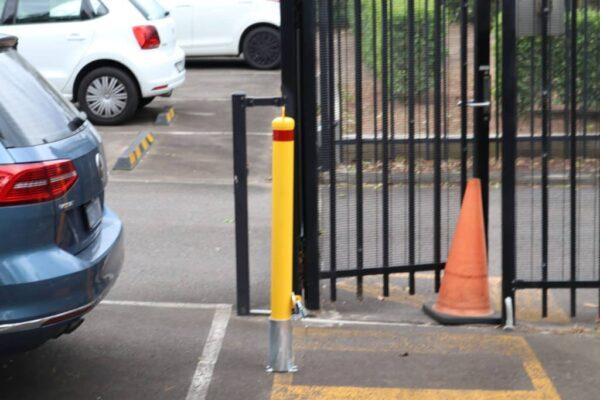 EV307 90mm dia In-Ground Removable Lockable Verge Safety Bollards