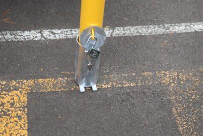 EV307 90mm dia In-Ground Removable Lockable Verge Safety Bollard