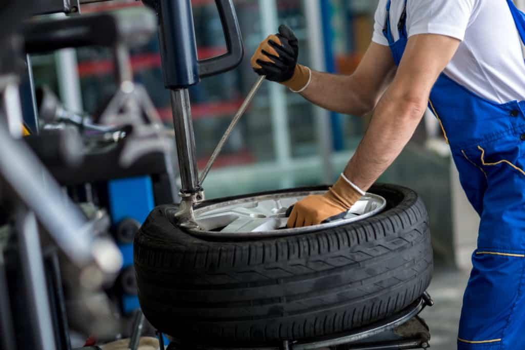 verge tyre repair shop safety barriers