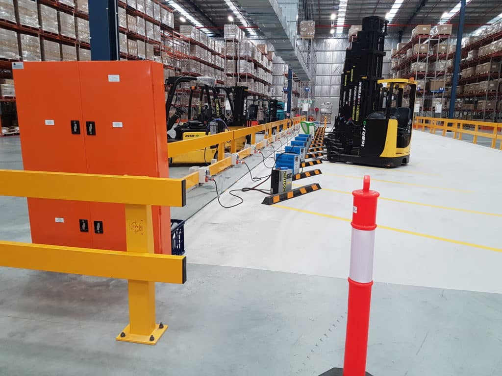 warehouse electric vehicle charging