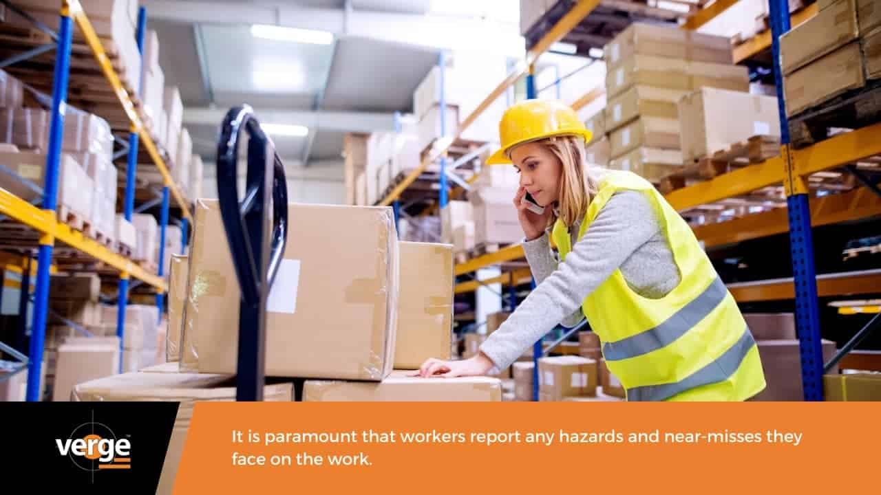 Motivating workers on the importance of hazard reporting