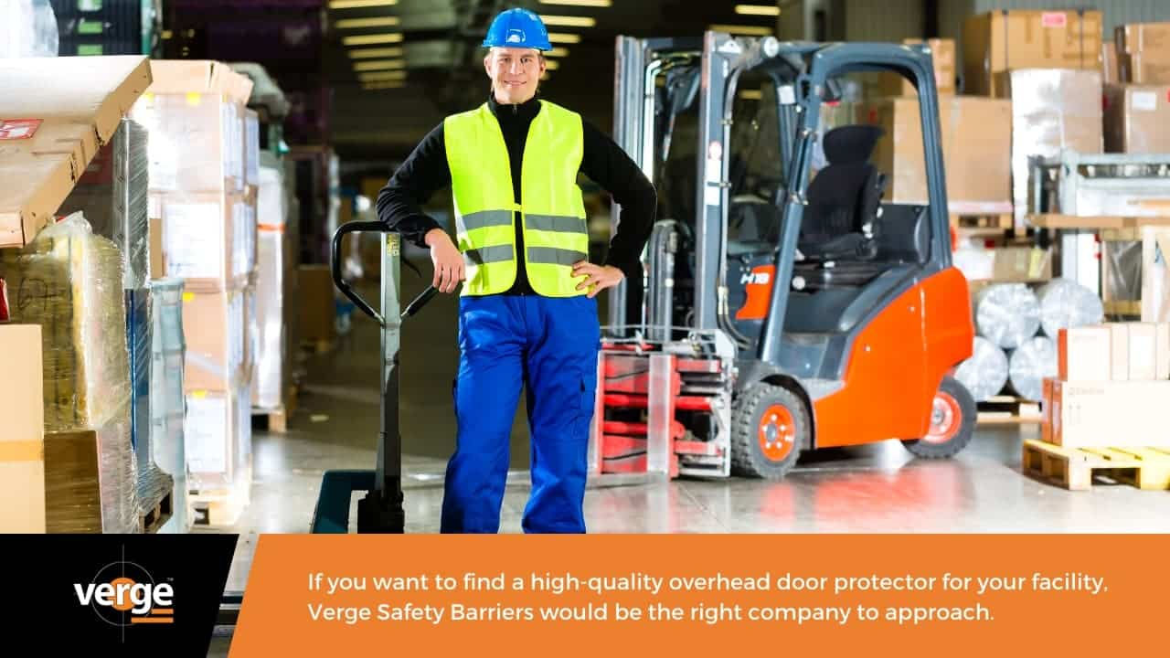 Get your overhead door protector from Verge Safety Barriers now