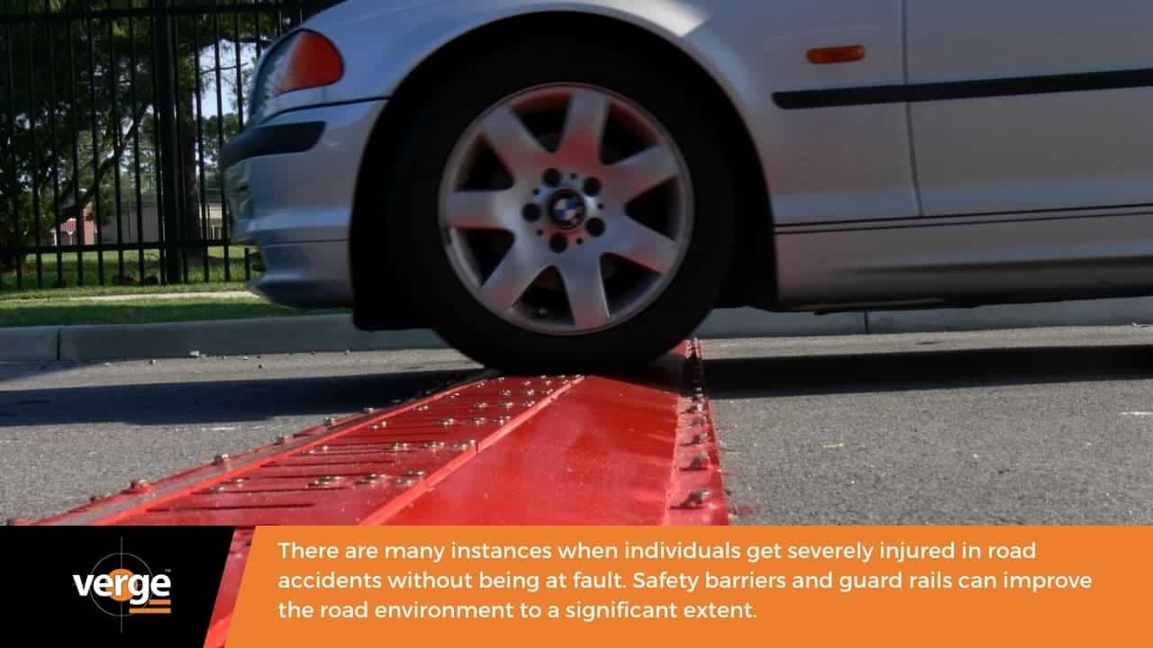 What are the benefits of safety barriers on roads