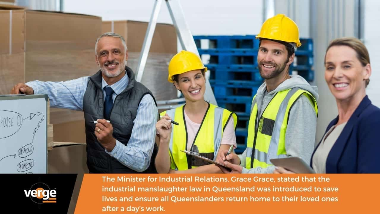 The industrial manslaughter law was introduced to save lives