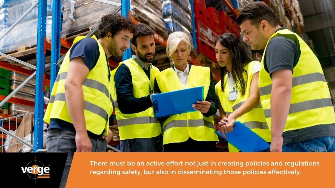 Enforce safety policies and guidelines in the workplace.